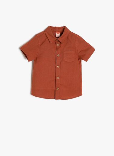Koton Kids Cep Detaylı Gömlek Kırmızı